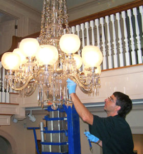Chandelier installation london from homemates chandelier installation mozeypictures Choice Image