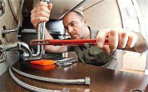 Plumber During work