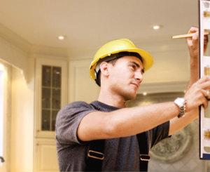 Handyman during work